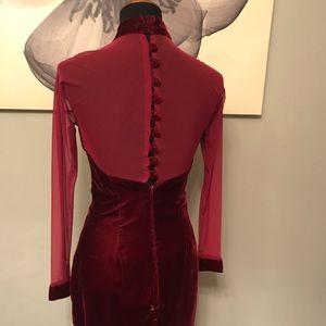 💋 1990s Velvet Dress